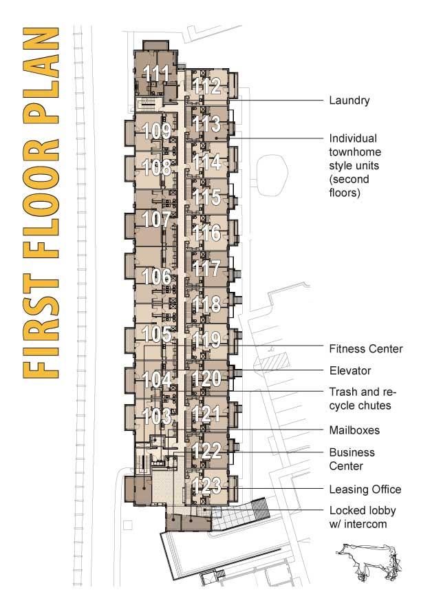 Hide House Lofts Floor Unit Plans