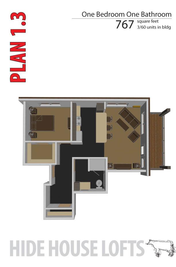 Hide house lofts floor unit plans for 3 unit house plans